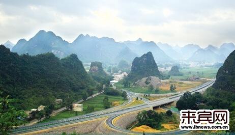 百靖高速公路秀丽的景色